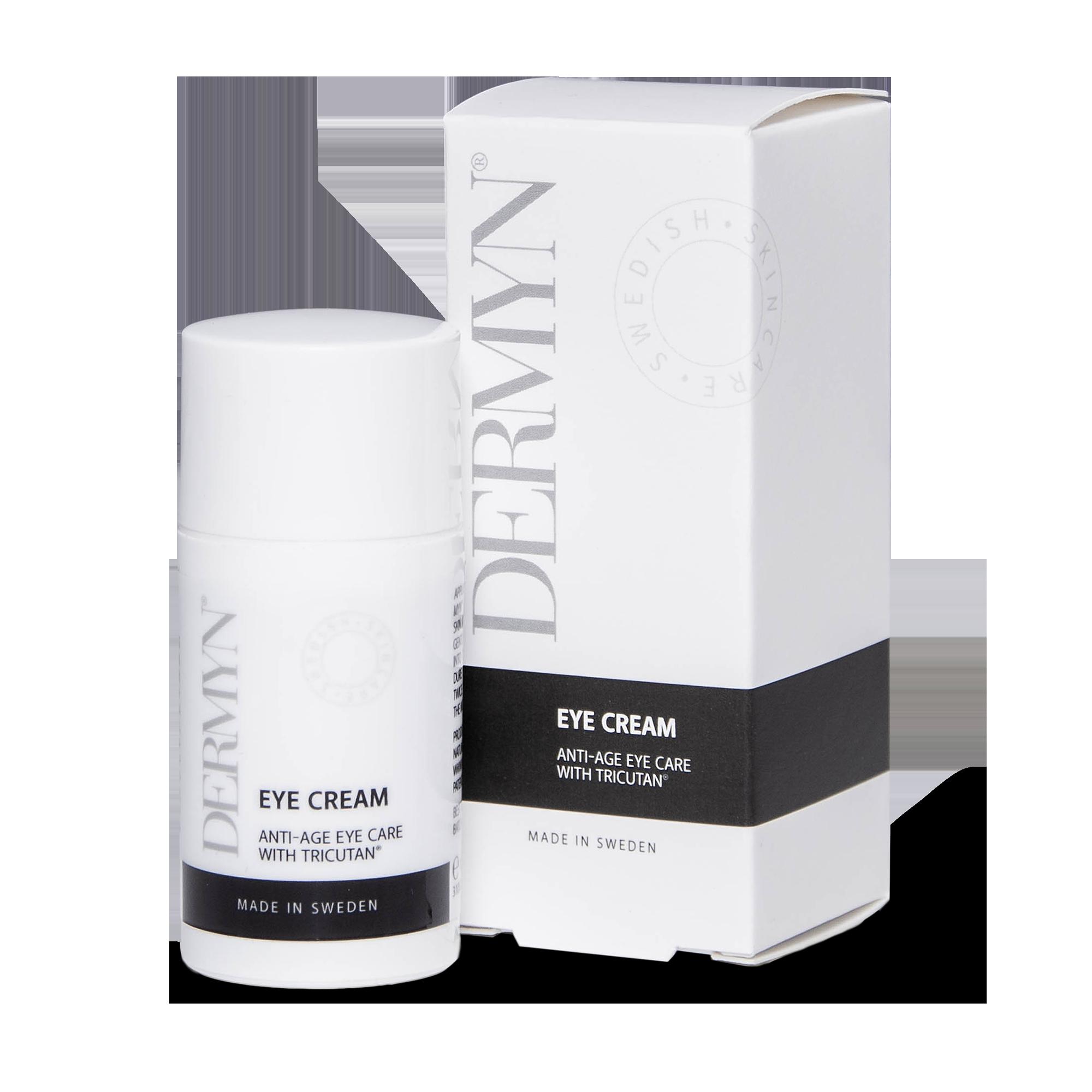 DERMYN Eye Cream föryngrar slapp hud och skyddar mot rynkor i ögonområdet.