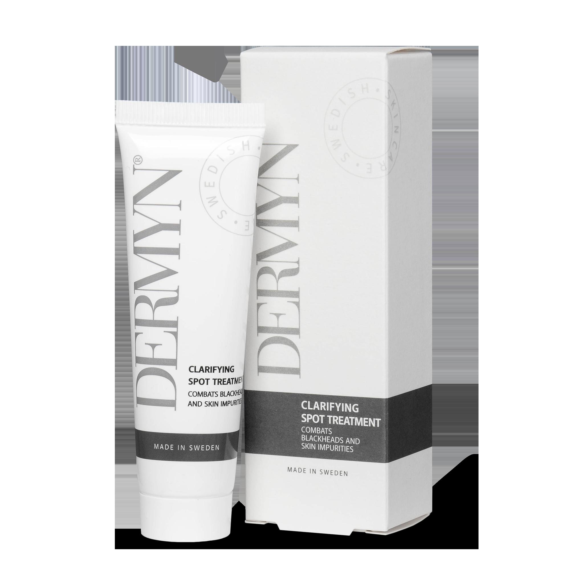 DERMYN Clarifying Spot Treatment motverkar effektivt pormaskar och finnar.